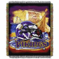Minnesota Vikings NFL Woven Tapestry Throw