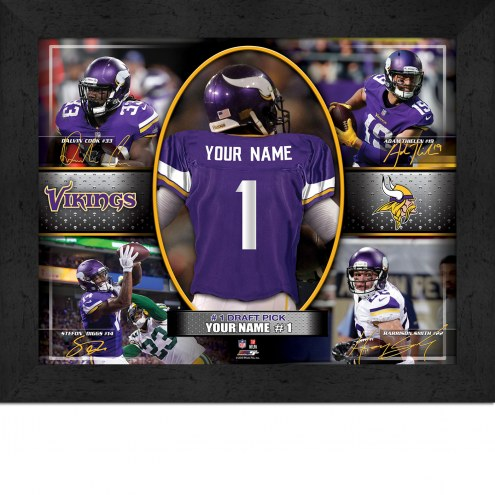 Minnesota Vikings Personalized 11 x 14 Framed Action Collage