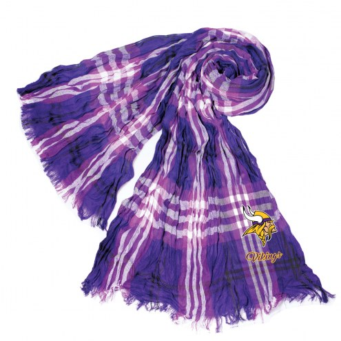 Minnesota Vikings Plaid Crinkle Scarf