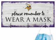 Minnesota Vikings Please Wear Your Mask Sign