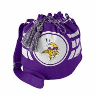 Minnesota Vikings Purple Ripple Drawstring Bucket Bag