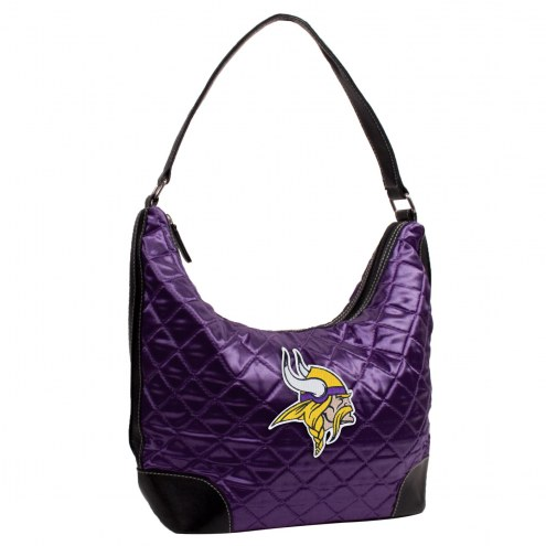 Minnesota Vikings Quilted Hobo Handbag