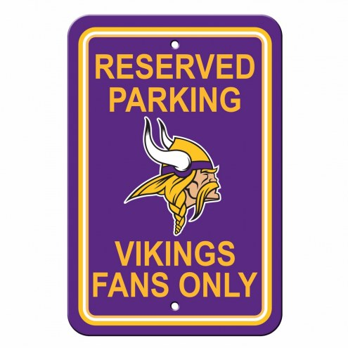 Minnesota Vikings Reserved Parking Sign