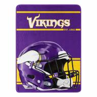Minnesota Vikings Run Raschel Blanket