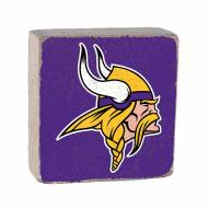 Minnesota Vikings Rustic Block
