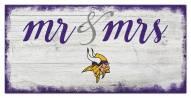 Minnesota Vikings Script Mr. & Mrs. Sign