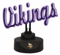 Minnesota Vikings Script Neon Desk Lamp