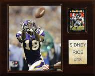 "Minnesota Vikings Sidney Rice 12 x 15"" Player Plaque"