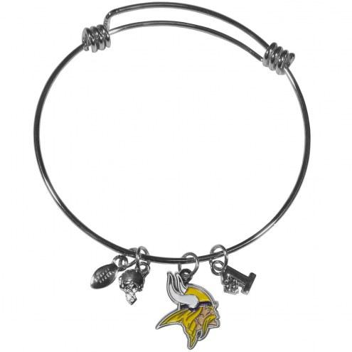 Minnesota Vikings Charm Bangle Bracelet