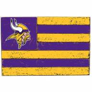 Minnesota Vikings Small Flag Wall Art