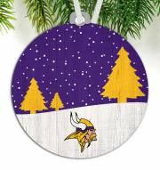 Minnesota Vikings Snow Scene Ornament