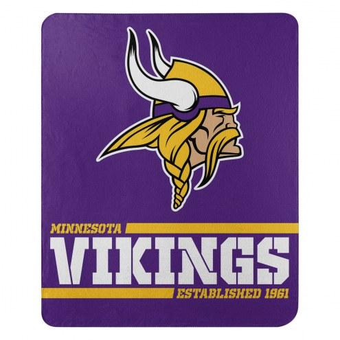 Minnesota Vikings Split Wide Fleece Blanket