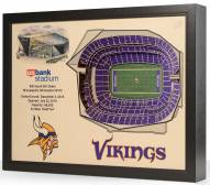 Minnesota Vikings 25-Layer StadiumViews 3D Wall Art