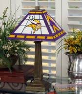 Minnesota Vikings Stained Glass Mission Table Lamp