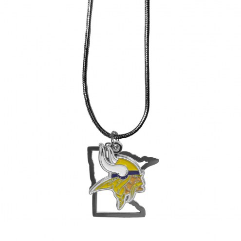Minnesota Vikings State Charm Necklace