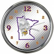 Minnesota Vikings State of Mind Chrome Clock