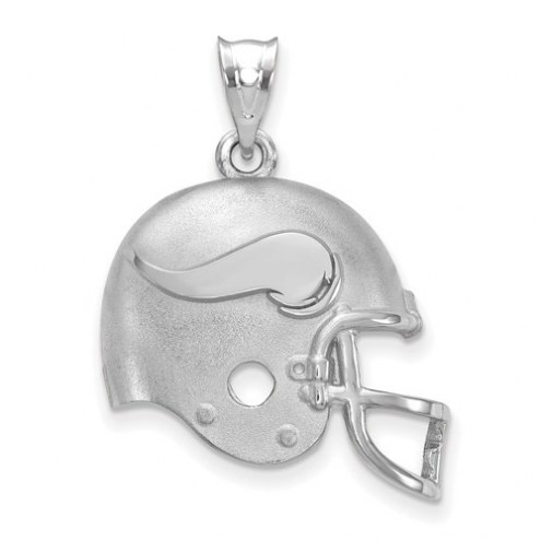 Minnesota Vikings Sterling Silver Football Helmet Logo Pendant
