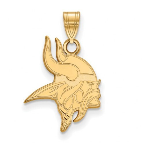 Minnesota Vikings Sterling Silver Gold Plated Small Pendant