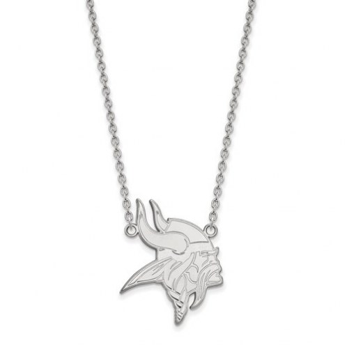 Minnesota Vikings Sterling Silver Large Pendant with Necklace