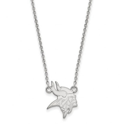 Minnesota Vikings Sterling Silver Small Pendant with Necklace