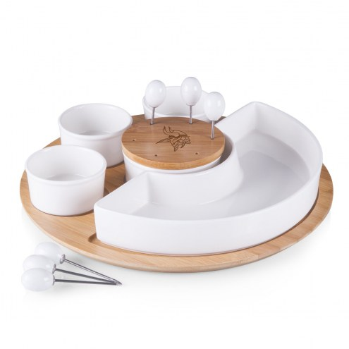 Minnesota Vikings Symphony Appetizer Serving Set