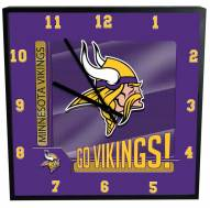 Minnesota Vikings Team Black Square Clock