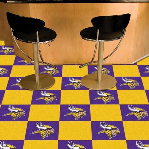 Minnesota Vikings Team Carpet Tiles