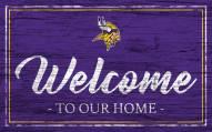 Minnesota Vikings Team Color Welcome Sign
