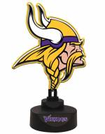 Minnesota Vikings Team Logo Neon Light
