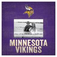 "Minnesota Vikings Team Name 10"" x 10"" Picture Frame"
