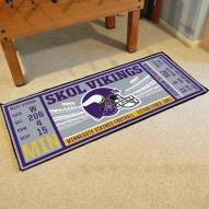 Minnesota Vikings Ticket Runner Rug