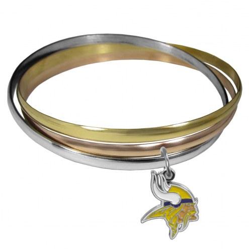 Minnesota Vikings Tri-color Bangle Bracelet