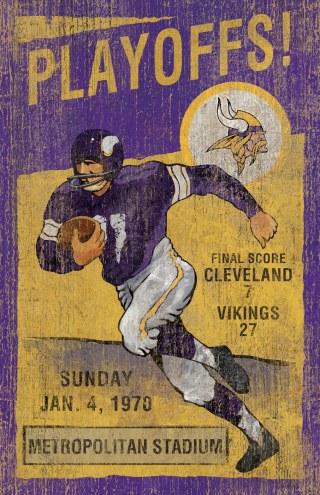 Minnesota Vikings Vintage Wall Art
