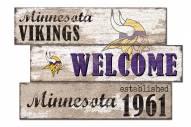 Minnesota Vikings Welcome 3 Plank Sign