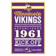 Minnesota Vikings Established Wood Sign