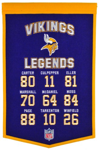 Minnesota Vikings Legends Banner