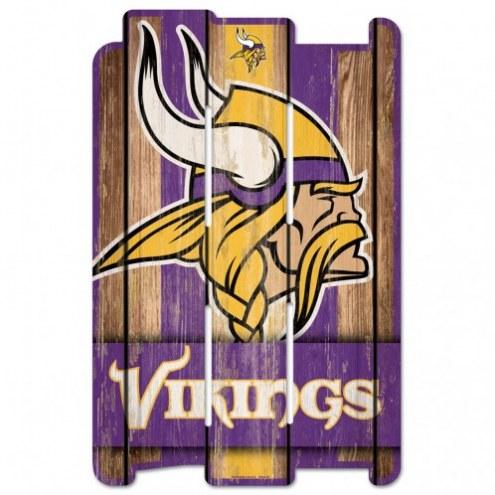 Minnesota Vikings Wood Fence Sign