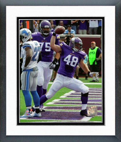 Minnesota Vikings Zach Line Action Framed Photo