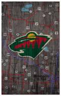 "Minnesota Wild 11"" x 19"" City Map Sign"