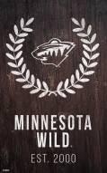 "Minnesota Wild 11"" x 19"" Laurel Wreath Sign"