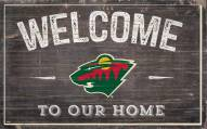 """Minnesota Wild 11"""" x 19"""" Welcome to Our Home Sign"""