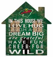 "Minnesota Wild 12"" House Sign"