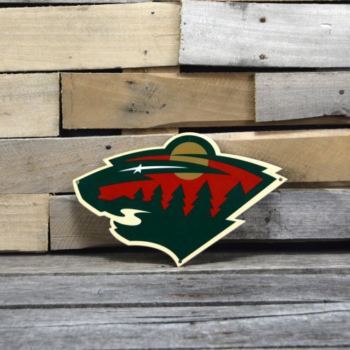 "Minnesota Wild 12"" Steel Logo Sign"