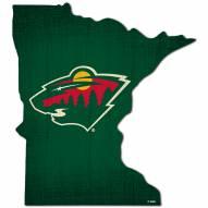 "Minnesota Wild 12"" Team Color Logo State Sign"