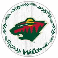 "Minnesota Wild 12"" Welcome Circle Sign"