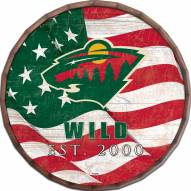 "Minnesota Wild 16"" Flag Barrel Top"