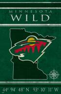 "Minnesota Wild 17"" x 26"" Coordinates Sign"