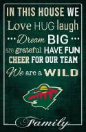 """Minnesota Wild 17"""" x 26"""" In This House Sign"""