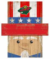 "Minnesota Wild 19"" x 16"" Patriotic Head"