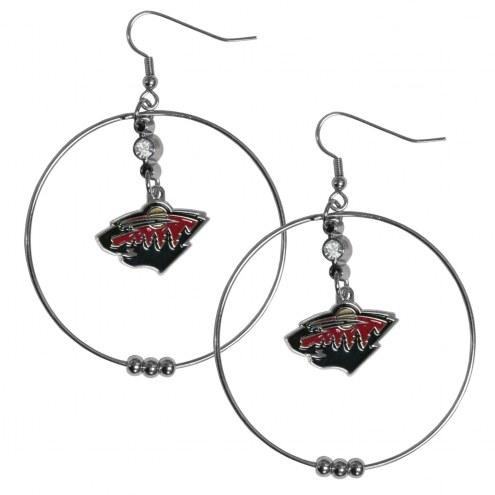 """Minnesota Wild 2"""" Hoop Earrings"""